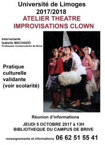 Affiche de l'atelier théâtre