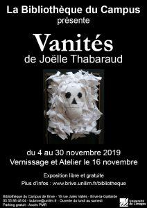 Affiche de l'exposition Vanités de Joëlle Thabaraud
